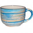 6114 Чашка 450мл Пастель голубая