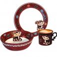 531076 Набор детский Милая обезьянка, 3пр.(чашка-280мл, пиала-500мл, тарелка-19,5см)