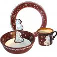 531077 Набор детский Белый медведь, 3пр.(чашка-280мл, пиала-500мл, тарелка-19,5см)