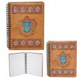 95401-12 Блокнот с гравировкой Украинский Герб 145*180мм,50листов\линия