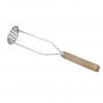 101-013 Толкушка металическая с деревянной ручкой 28см