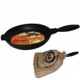 99010 Сковорода чугунная гриль круглая 24 см,h-4см