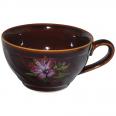 50196 Чашка чайная коричневая с деколью 380 мл