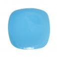 3580 Тарелка квадратная 10,5' голубая
