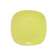 3581 Тарелка квадратная 8' желтая