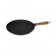 99029 Сковорода чугунная литая с деревянной ручкой 24см, h-2.5см