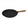99030 Сковорода чугунная литая с деревянной ручкой 26см, h-2.5см