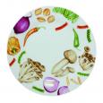 75511 Тарелка 8 Овощи