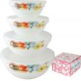 30054-1068 Набор емкостей для хранения продуктов с крышкой 4шт (7 ', 6', 5 ', 4,2') Радужный мак