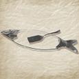 37206 Блюдо для рыбы с ложкой декор Рыба (58 * 20см)