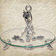 37207 Фруктовница круглая декор Виноград (30 * 30 * 23см)