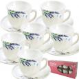 30055-1065 Набор чайный 12пр. (чашка-190мл, блюдце-14см) Лаванда