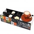 1458 Сервиз кофейный 12пр - D (чашка-100мл, блюдце-12см)