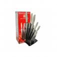 8551 Набор ножей Маруся 5 пр. на прозрачной стойке(лезвие-8см,12см,20см,20см,20*4см)