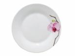 3079 Салатник 8 '154 Розовая орхидея (Русский стикер)