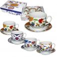 023-12-01 Сервиз чайный 12пр. Золотые цветы микс1 (чашка-220мл, блюдце-13,5см)