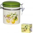 629-7 Ёмкость для сыпучих продуктов, 0,75л. 'Лимон' (d-10 см, h-13 см)