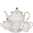 1771 Сервиз чайный 15пр. (чашка-220мл, блюдце-14см) Снежная королева (белый с золотом)