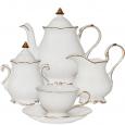 1780 Сервиз чайный 15пр. Снежная королева (белый с золотом) (чашка-250мл, блюдце-16,5см)