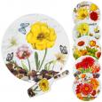 3085-03 Набор для торта 2пр. 'Цветы' микс2