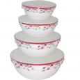 30054-1248 Набор емкостей для хранения продуктов с крышкой 4шт (7' ,6' , 5' , 4,5' ) Полевые цветы