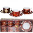 022-12-10 Сервиз кофейный 12пр 'Кофейня' (чашка-150мл, блюдце-13см)