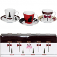 024-12-15 Сервиз эспрессо 12пр 'Кофе модерн' (чашка-90мл, блюдце-11см)