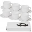 30084-00 Набор чайный Белый (чашка-200мл, блюдце-14см) D1