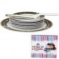 3085-10 Набор для торта 2пр. Греция d-27см