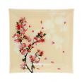 306 Тарелка квадрат 8'-20 см  (Цветущая Вишня)