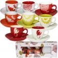 1533-09 Сервиз кофейный 12пр. 'Цветы микс' (чашка-100мл, блюдце-11,5см)