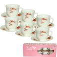 30055-16003 Набор чайный 12 пр.(чашка-190мл, блюдце-14см) 'Айва оранж'