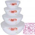 30054-16005 Набор емкостей для хранения продуктов с крышкой 4шт (7', 6' , 5' , 4,2' ) 'Цветочная акварель'