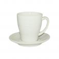 13641-03 Чашка с блюдцем белая(чашка-290мл, блюдце-14см)