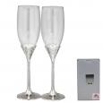 7047-11 Набор бокалов для шампанского Два сердца 2шт 220мл