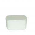 40010-03-10 Салатник 5,5' белый квадрат с крышкой A1