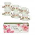 30055-001 Набор чайный 12 пр.(чашка-190мл, блюдце-14см) 'Орхидея'