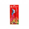8583 Набор ножей для чистки овощей  Маруся  4 пр. на блистере