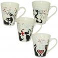 4160-12 Чашка 300мл Влюбленные коты