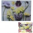 9551 Доска разделочная стеклянная 20х30х0.5 см (15) Цветущая вишня