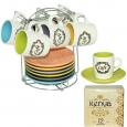 533-41 Сервиз кофейный 12пр Тюльпан на стойке (чашка-100мл, блюдце-11см)