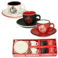 1458-3 Сервиз кофейный 12пр. (чашка-100мл,блюдце-12см)