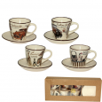 1533-06 Сервиз кофейный 12пр. Fashion (чашка-100мл, блюдце-11,5см)