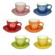 13650 Чашка с блюдцем (чашка-100мл, блюдце-11см) Кофе тайм