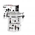630-12 Емкость для сыпучих продуктов 0,5л 'Черная кошка' (h-10см, d-9,5см)