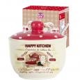 2242-11 Сахарница с ложкой 450мл 'Happy Kitchen' (d-11см, h-7,5 см)