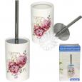 888-05-002 Туалетный ершик с подставкой 'Цветы' 33,5*10 см