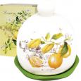 6912-7 Набор для соли и перца с салфетницей на керам.подставке 'Лимон'