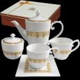 1788 Набор чайный 15пр. Адель (чашка - 230мл, блюдце -14см, сахарница - 380мл, молочник - 260мл, чайник - 1,2л)
