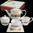 1788 Набор чайный 15пр. Азалия (чашка - 230мл, блюдце -14см, сахарница - 380мл, молочник - 260мл, чайник - 1,2л)